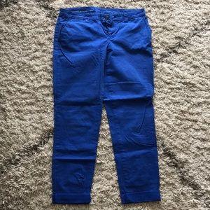 Gap khakis broken in straight cobalt blue pant